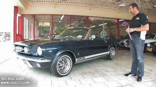 1965 Ford Mustang GT Convertible for sale Flemings with test drive, and walk through video