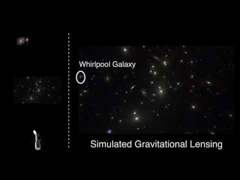 Demonstration of Gravitational Lensing by a Massive Cluster of Galaxies