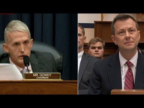 Rep. Trey Gowdy questions FBI's Peter Strzok in fierce grilling