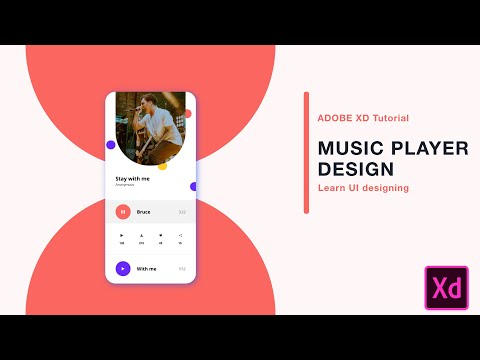 How to design music player in Adobe Xd   Adobe Xd tutorial   Design Tails   2019 thumbnail