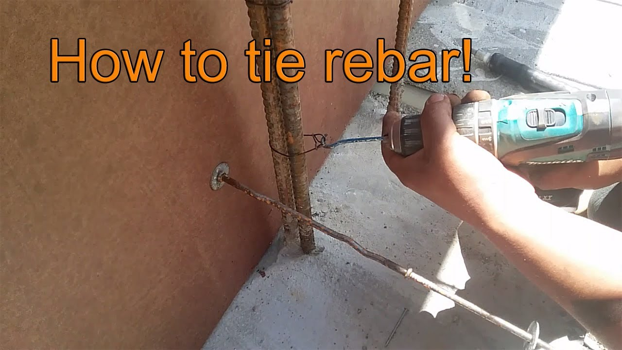 How To Tie Rebar