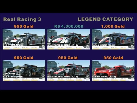 Real Racing 3 - Prices Of The Car In Legend Category