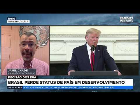 EUA retiram status do Brasil de país em desenvolvimento