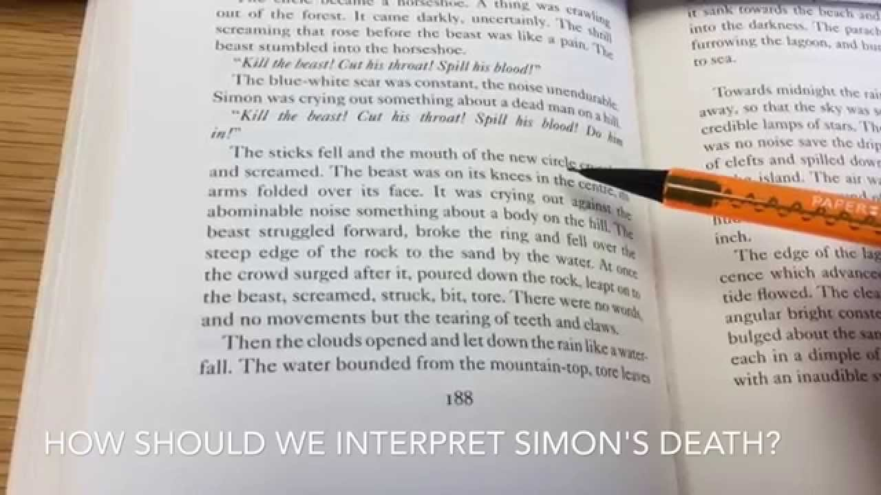 simon s death and christian symbolism in lord of the flies