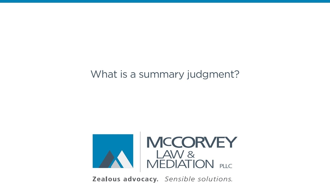 what is a summary judgment what is a summary judgment