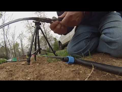 T-Tape irrigation setup and more