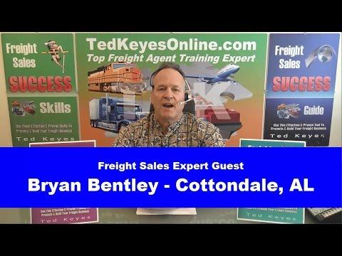 [TKO] ♦ Live Interview - Freight Sales Expert Guest - BRYAN BENTLEY ♦ TedKeyesOnline.com