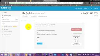 How to get Hash ID or transactioin receipt of bitcoin on Blockchain.info