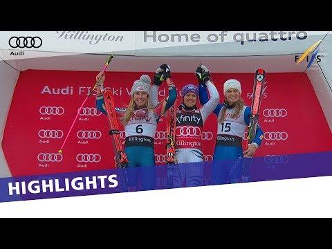 Highlights | Rebensburg outduels Shiffrin to win in Killington | FIS Alpine