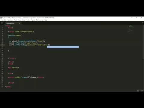Javascript : createElement / setAttribute