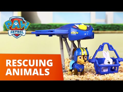 PAW Patrol | Animal Rescues! Pups Save the Day! | Toy Episode Compilation