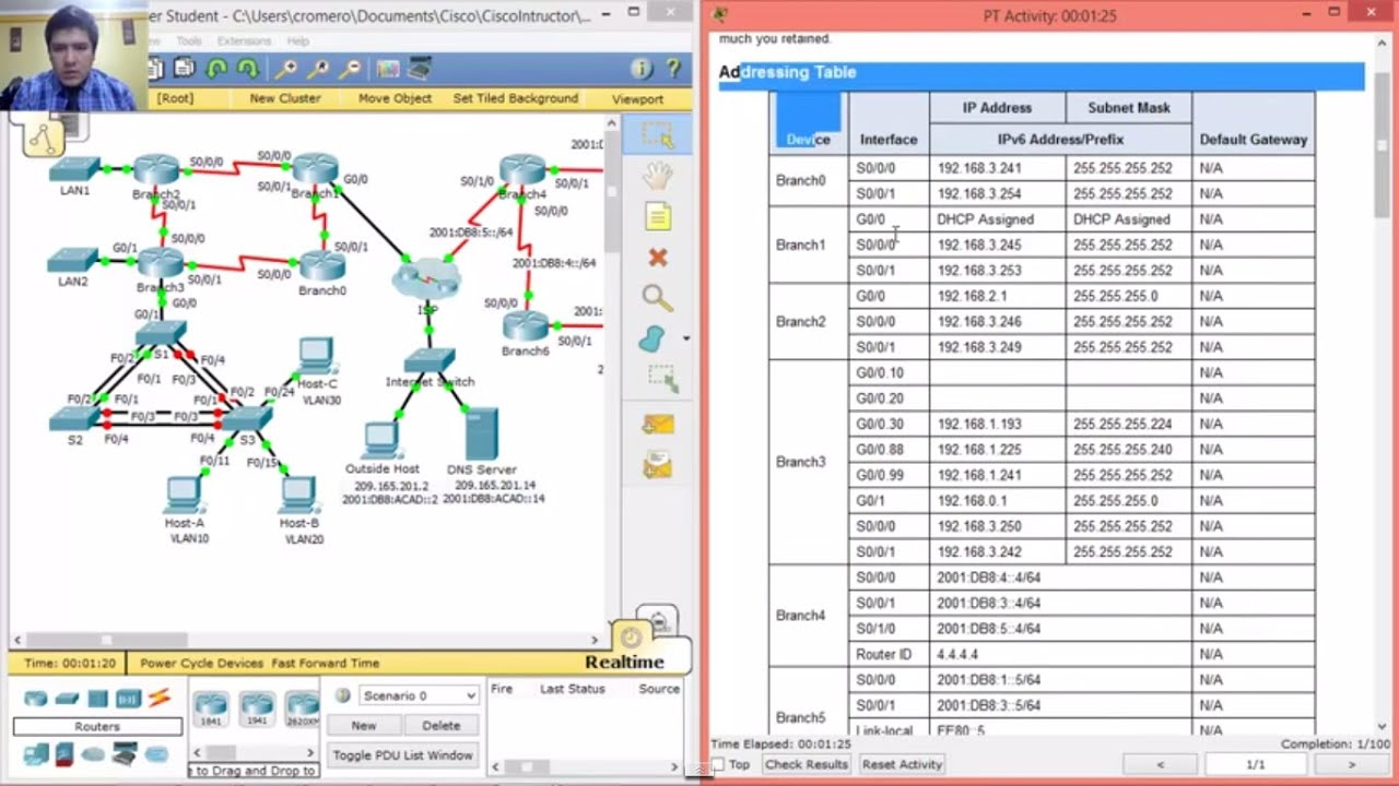 1 4 1 3 packet tracer skills integration challenge eigrp youtube