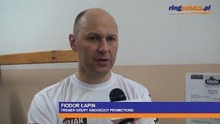 Fiodor Łapin po walce Głowacki - Vekiloglu