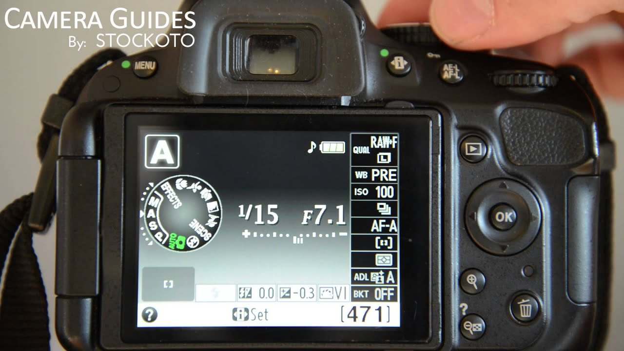 How To Set Aperture F Stop On A Nikon D5100 D5200 D5300