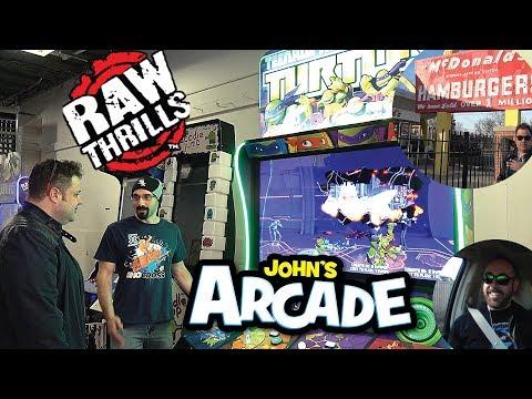 Raw Thrills Teenage Mutant Ninja Turtles TMNT Arcade Game Gameplay Injustice Xgames Snowboarder