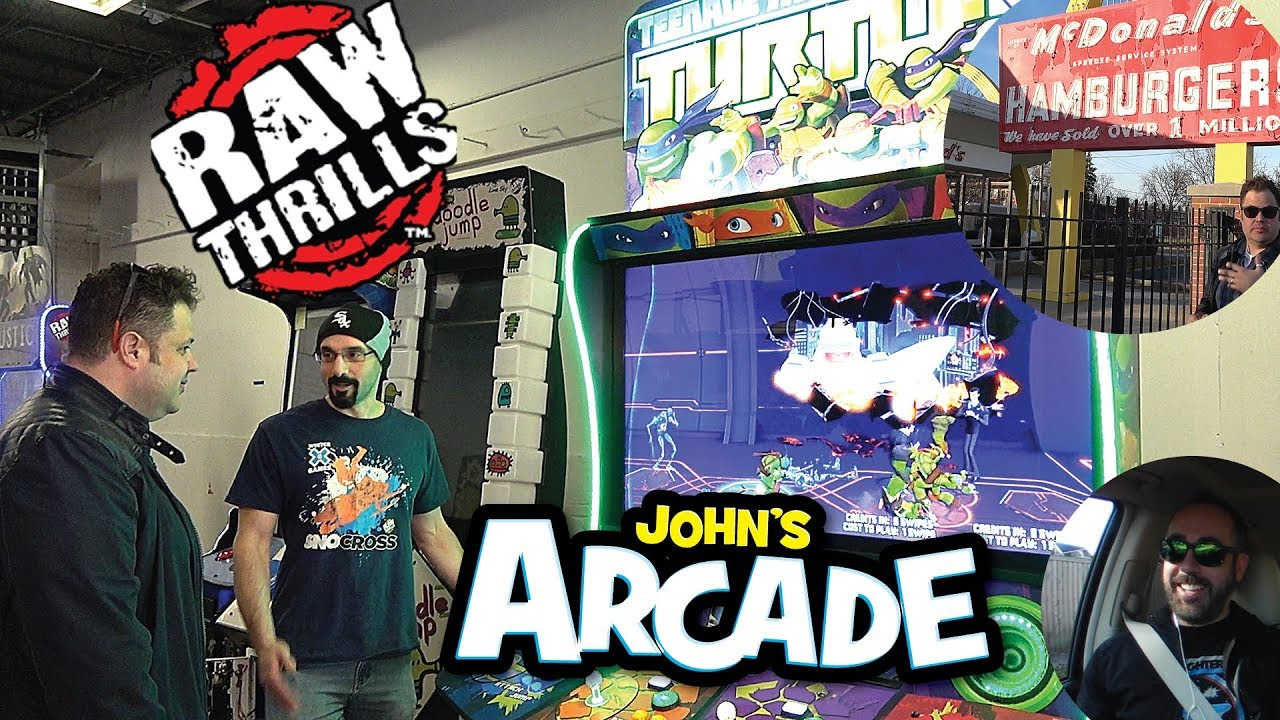 Raw Thrills Teenage Mutant Ninja Turtles TMNT New Arcade 2017 Gameplay  Injustice Xgames Snowboarder