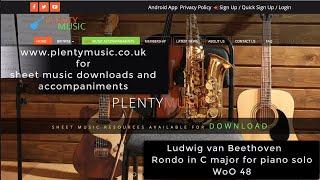 Beethoven L. van | Rondo in C major WoO48 for piano solo