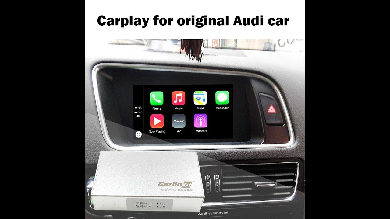 Apple Carplay Box for AUDI Original Screen Upgrade MMI system Camera Interface - YouTube