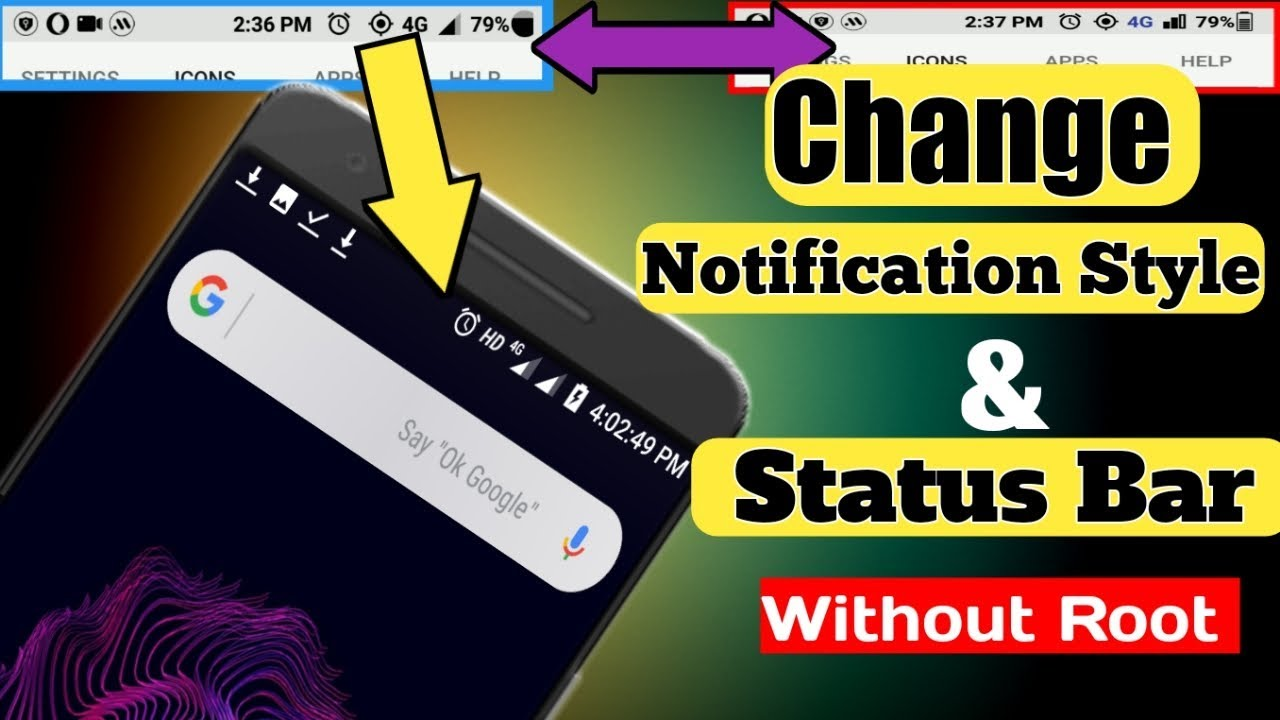 how to change the status bar on iphone 4
