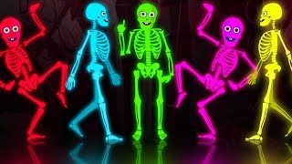 Midnight Magic - Five Crazy Dancing Skeletons Jumping On The Grave Funny Skeleton Dance