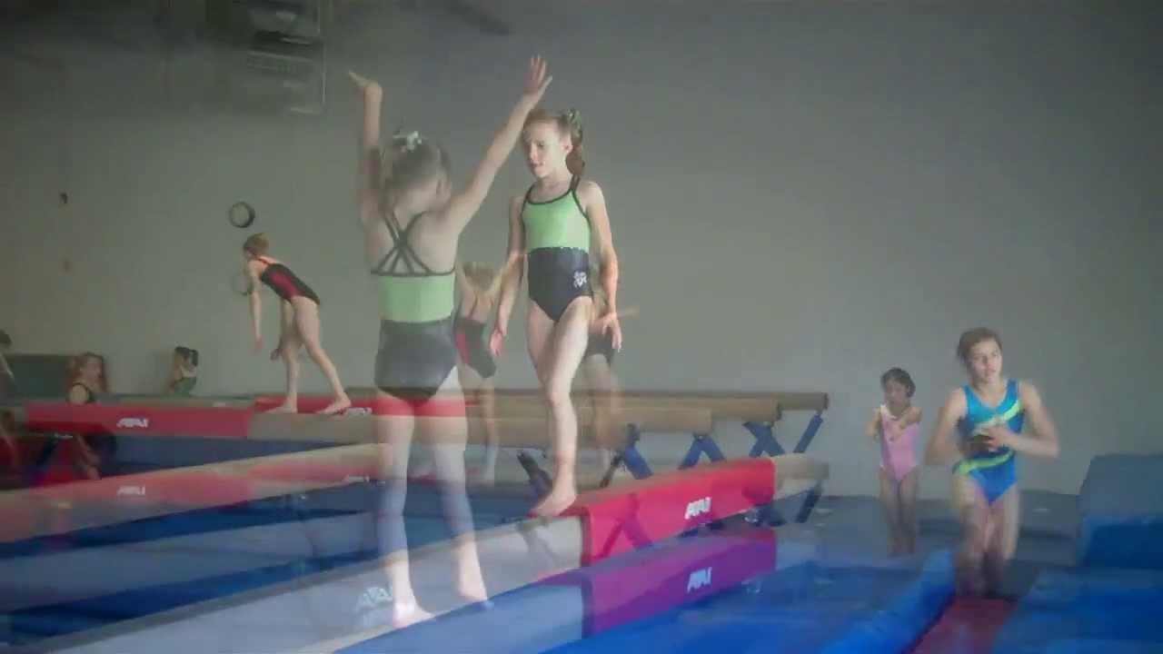 Sage, age 8, gym practice - supergymnastsage