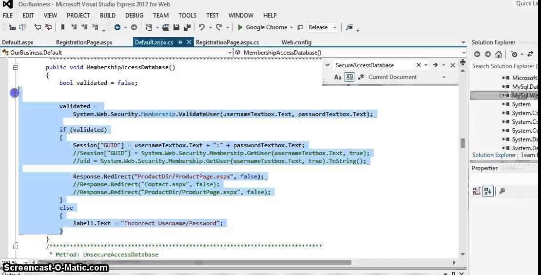 ASPNET C# MySQL Membership Role Provider Tutorial
