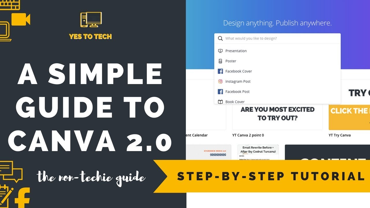 CANVA PRO: A SIMPLE VIDEO GUIDE TO CANVA 2 0 (CANVA PRO) - How To Use Canva  2 0 - Canva Pro Tutorial