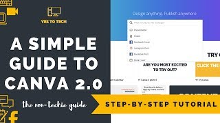 CANVA PRO: A SIMPLE VIDEO GUIDE TO CANVA 2.0 (CANVA PRO) - How To Use Canva 2.0 - Canva Pro Tutorial