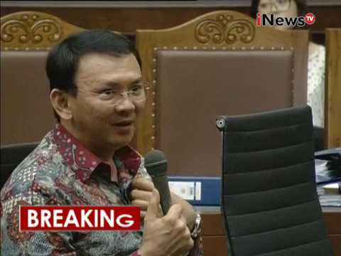 Basuki Tjahaja Purnama atau Ahok kesal saat ditanya tentang kontribusi - iNews Breaking News 05/09
