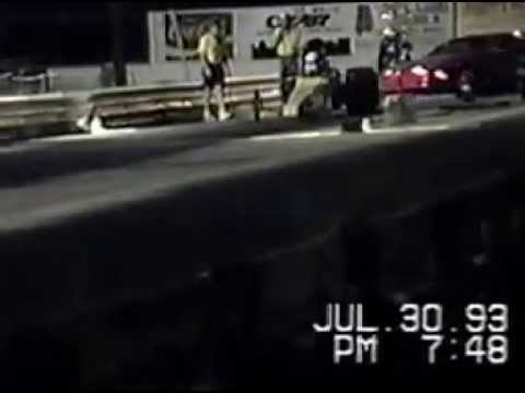 Rail Dragster Cunningham, Pope, Martin Racing Team 1990, Montgomery Drag Strip, Alabama