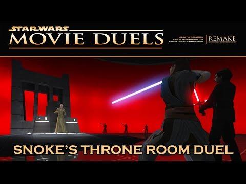 Movie Duels: Snoke's Throne Room - Rey and Kylo Ren vs Snoke