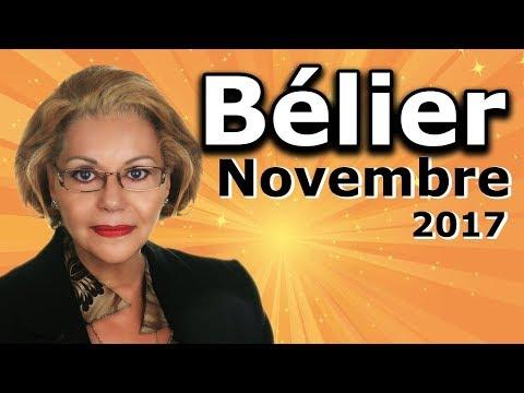 Horoscope Bélier Novembre 2017