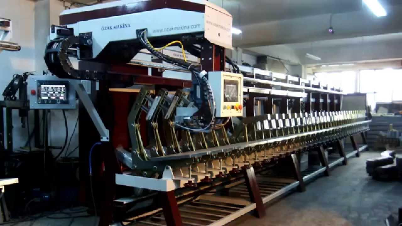 36 Istasyon Full Otomatik Poliüretan Taban Terlik Fuspet Ve Ayakkabi