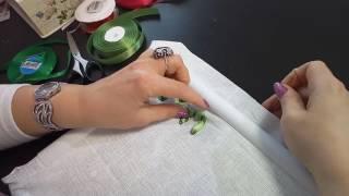 Первые шаги в вышивке лентами. First steps in embroiding with ribbon