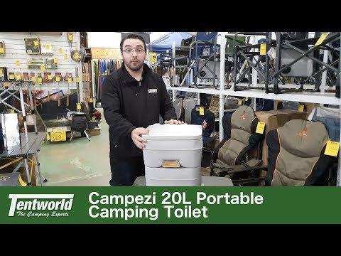 Campezi MU20 Portaflush Portable Camping Toilet Walkaround & How To Use + Review