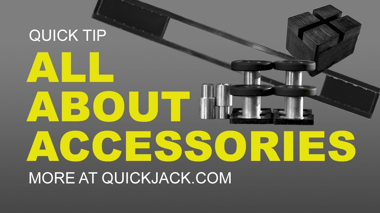 Quick Jack Com >> All Quickjack Accessories And How To Use Them Youtube