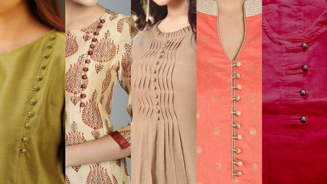 Latest Neck Designs With Buttons|Neckline Design With Loops Button|Fancy Button Kurta Patti Neckline
