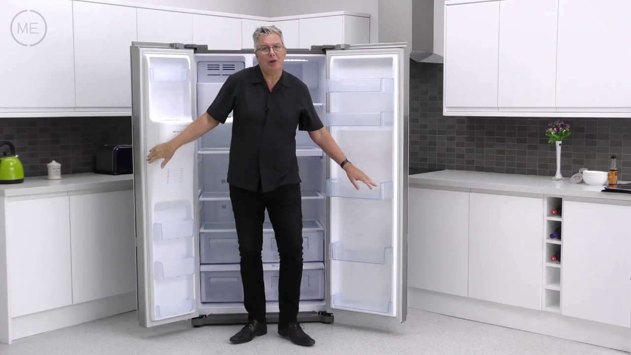 Daewoo FRAX22NP3S American Fridge Freezer Review - YouTube