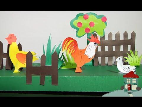 Granja de papel manualidades f ciles parte 2 youtube for Como hacer una granja de peces
