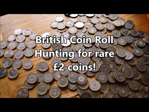 Coin Roll Hunting for rare British £2 Coins - What will we find today?