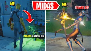 Fortnite Unvaulted The Drum Gun.. So I Pretended To Be Midas