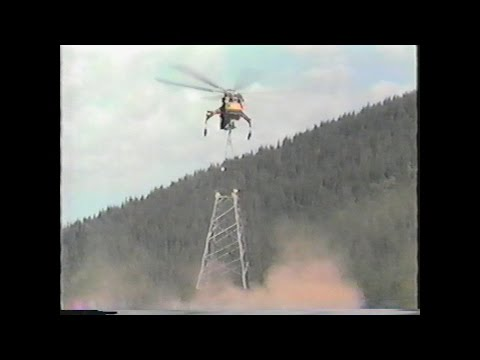Aircrane Helicopter Sikorsky S-64 Skycrane Flying Towers w/ Sound