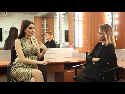 Aline Murr chatting with Cyrine Abdelnour