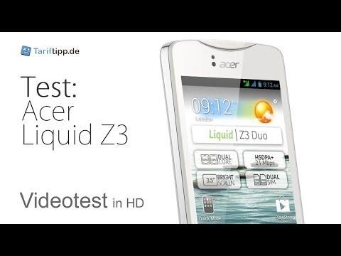 Acer Liquid Z3   Test in deutsch (HD)