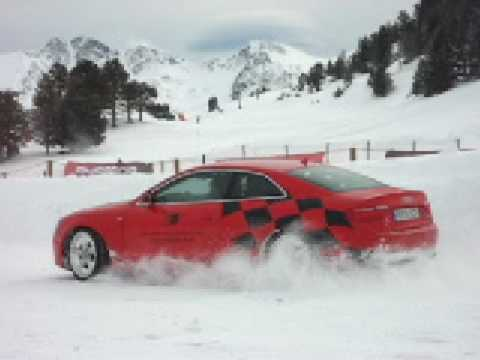 Curso de conducción sobre nieve en GrandValira AUDISPORT