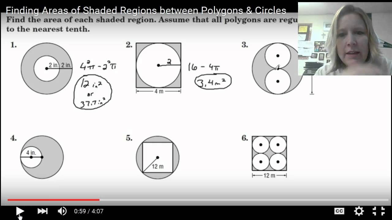 Reference How To Find The Area Area Of Shaded Region Of Circle Area Of  Shaded Region