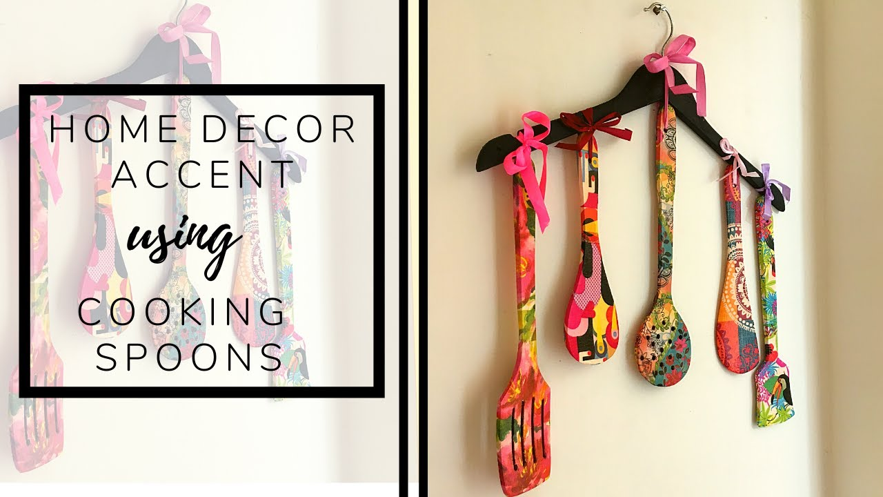D I Y   Decoupage On Cooking Spoons/Spatulas To Make A Home Decor Accent!