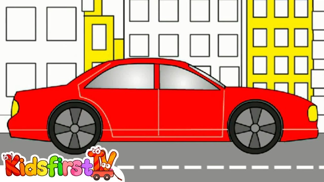 rainbow colors book kids learn colours vehicles cars