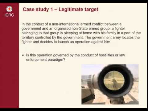 Use of force in armed conflicts 2/5 Case Study 1 – Use of force against legitimate targets