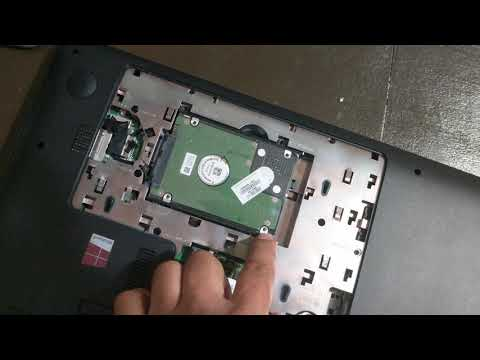 HP Pavilion 17 Notebook hard drive removal